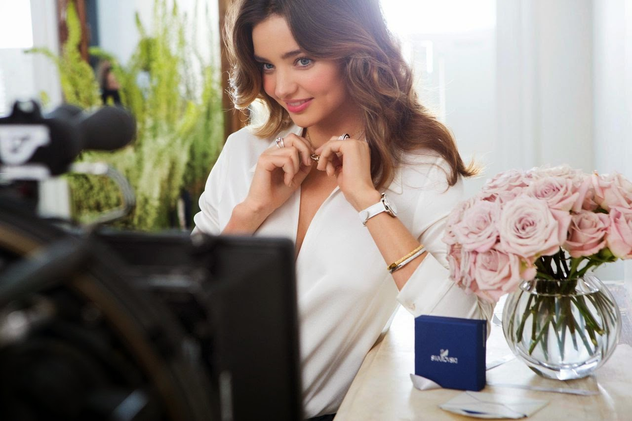 Miranda Kerr poses for the Swarovski Spring/Summer 2014 Campaign