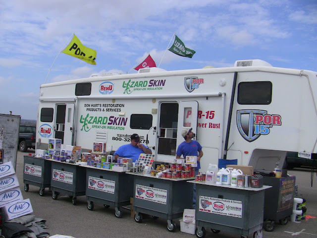 toy hauler rv used for advertising and business