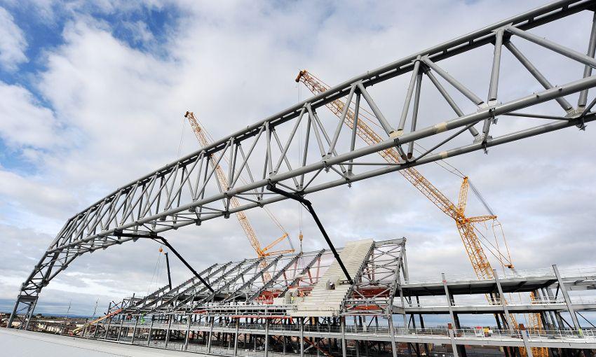 anfield main stand costruzione