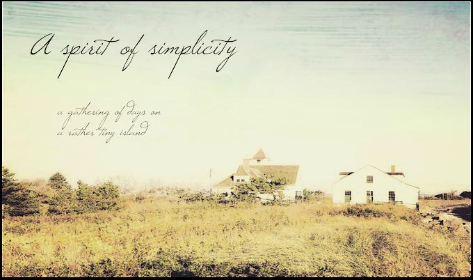 a spirit of simplicity