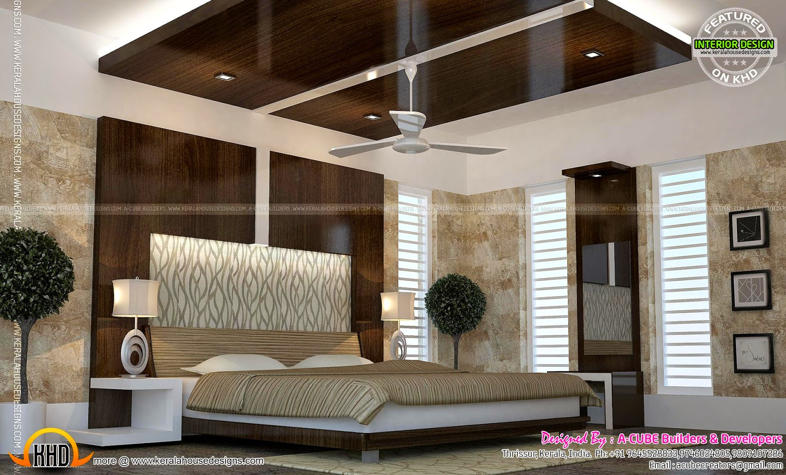 Kerala interior design ideas kerala home design and - Interior design for bedroom in india ...