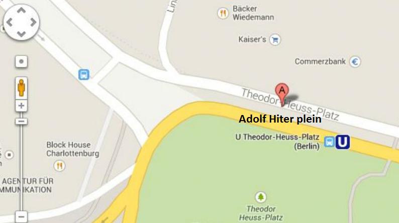 Google Hitler Meydanı için üzgünüm diyor