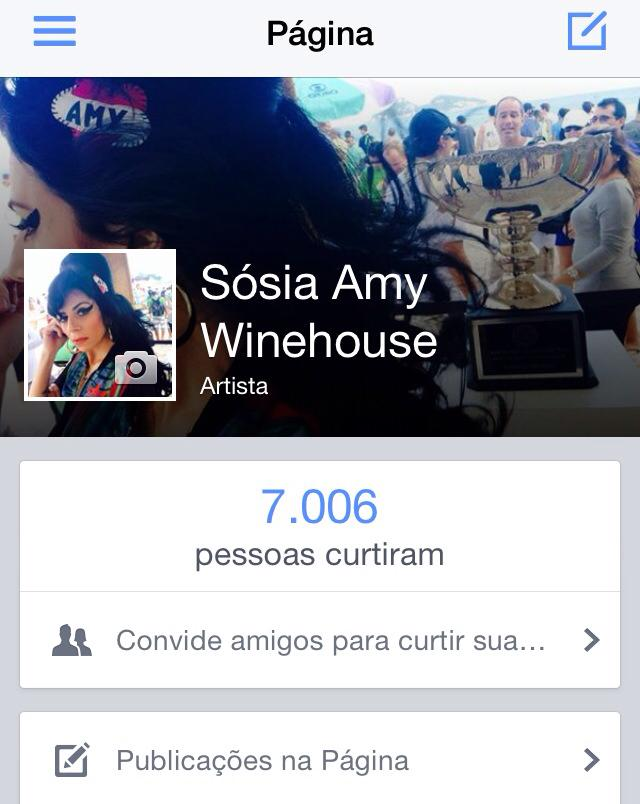 Sósia Amy Winehouse no Facebook!