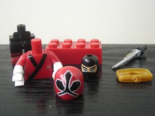 Power Rangers Super Samurai Mega Bloks Metallic Red Ranger 01