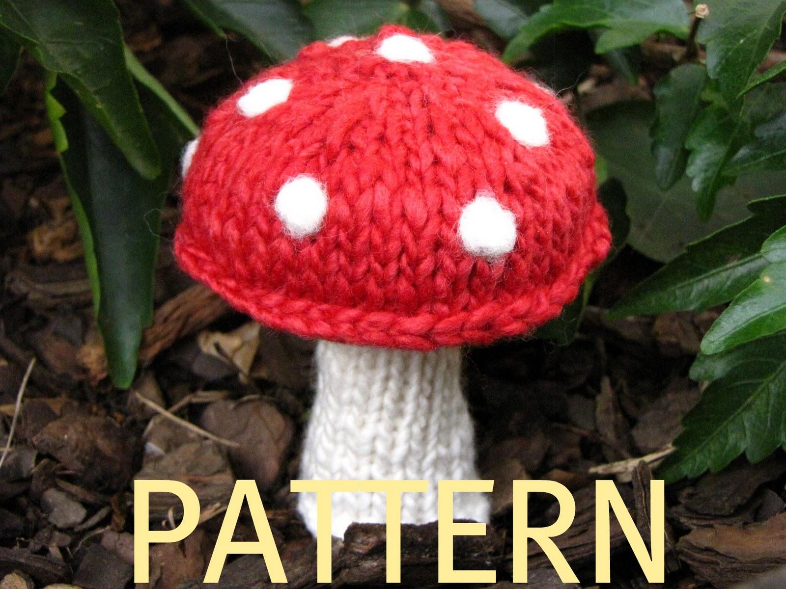 Fairy Mushroom Knitting Pattern Natural Suburbia