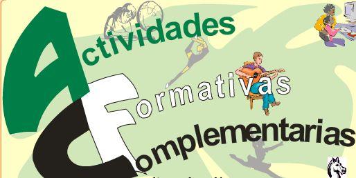 Resultado de imagen de ACTIVIDADES FORMATIVAS COMPLEMENTARIAS