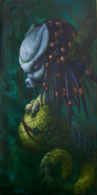 Predator Seahorse Acrylic Painting