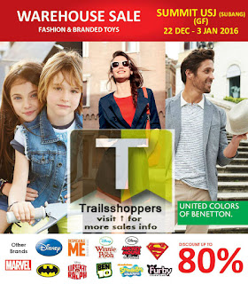 United Colors of Benetton & Branded Toys Warehouse Sale 2016