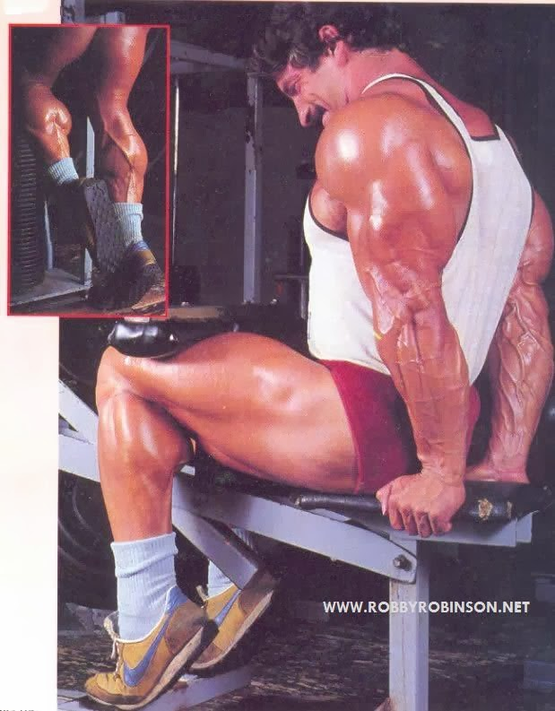MIKE MENTZER - HEAVY DUTY CALF TRAINING ● www.robbyrobinson.net/motivation.php ●