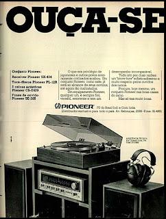 Anúncio Pioneer - 1975. 1975. propaganda década de 70. Oswaldo Hernandez. anos 70. Reclame anos 70