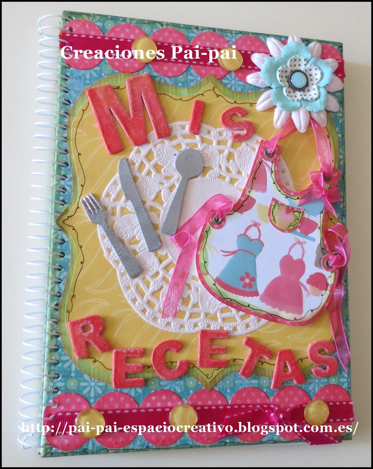 Pai Pai Imagen Creativa Scrapbooking Libreta Recetario