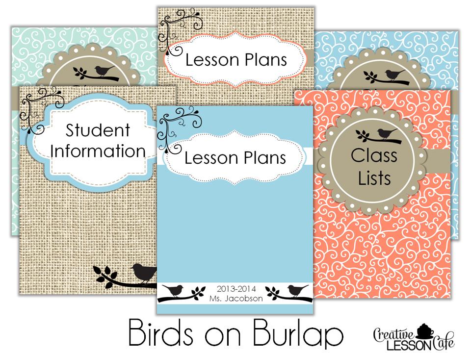 Classroom Decor Sets : Creative lesson cafe classroom decor set birds on burlap
