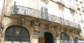 Balcon du 52 rue de l'Arbre-Sec à Paris