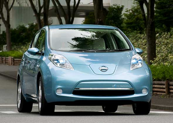 New York International Auto Show Crowned World Car Of The Year 2011 To  Electric Cars Nissan Leaf. The Award Was Given Because The World Stage Leaf  Is The ...