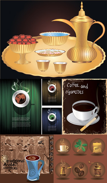Stock Vectors - Arabic Coffee Set
