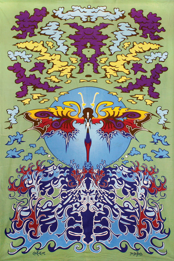 psychedelic tapestry wallflower