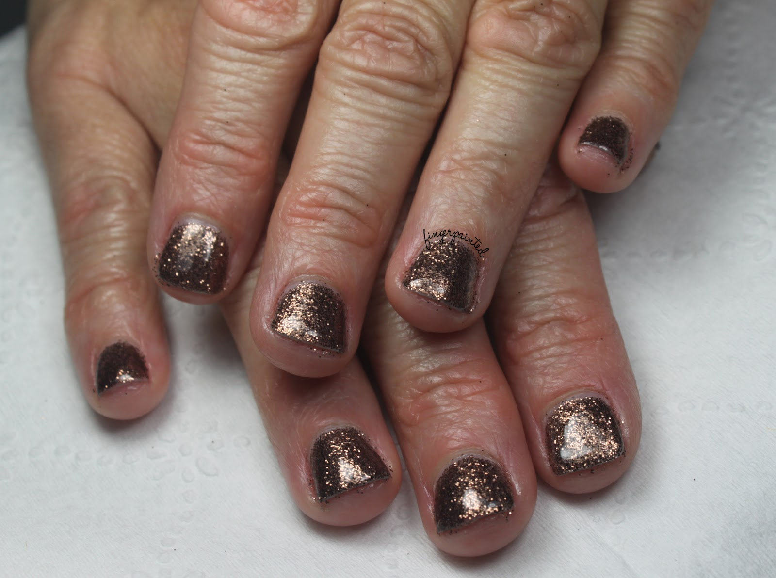Gelish Manicure Star Burst With Black Shadow Tips Work - InspiriToo.