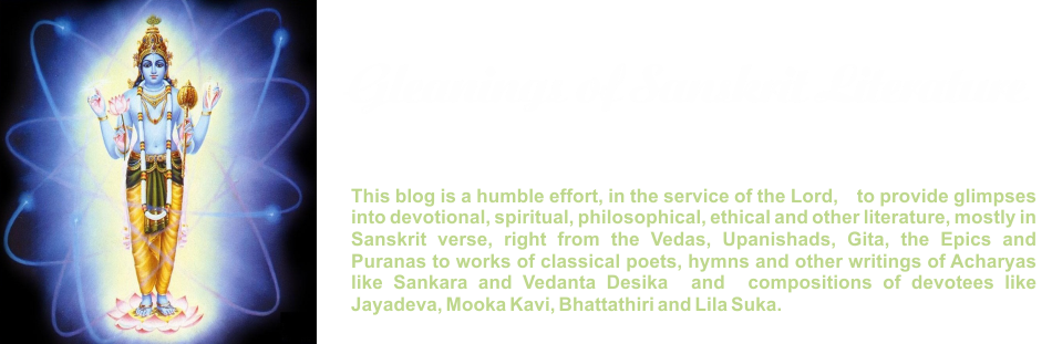 GLEANINGS FROM SANSKRIT LITERATURE