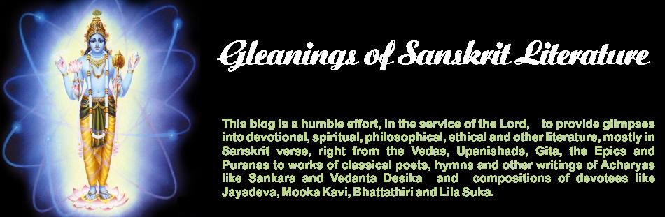 GLEANINGS FROM SANSKRIT LITERATURE