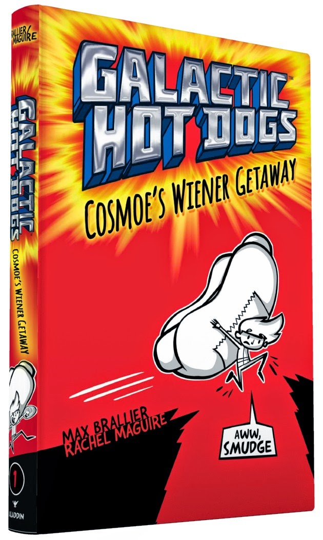 It's the book cover for Galactic Hot Dogs: Cosmoe's Wiener Getaway!