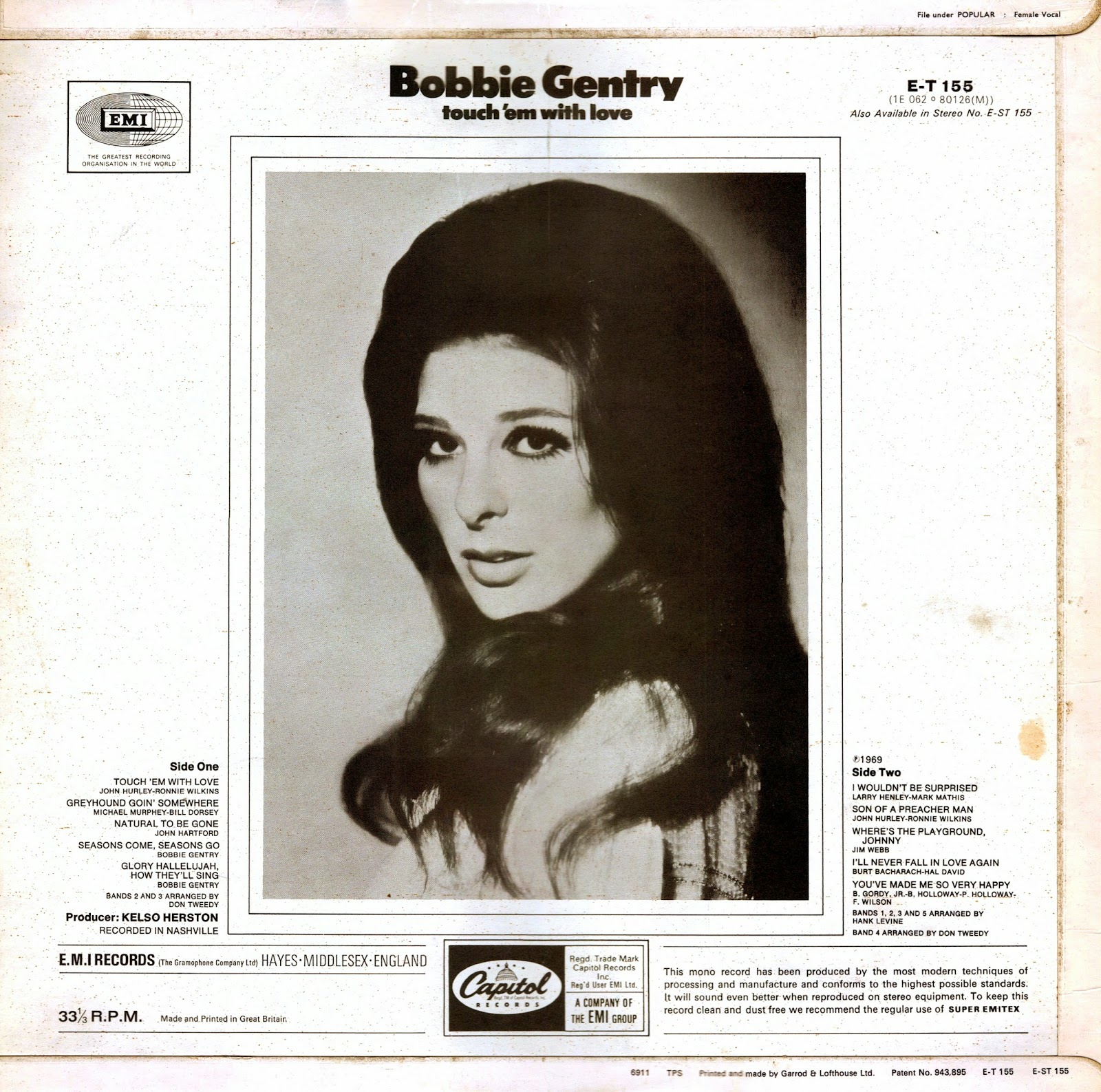 Vinyl Shipwreck: Bobbie Gentry - Touch 'Em With Love [1969 ...