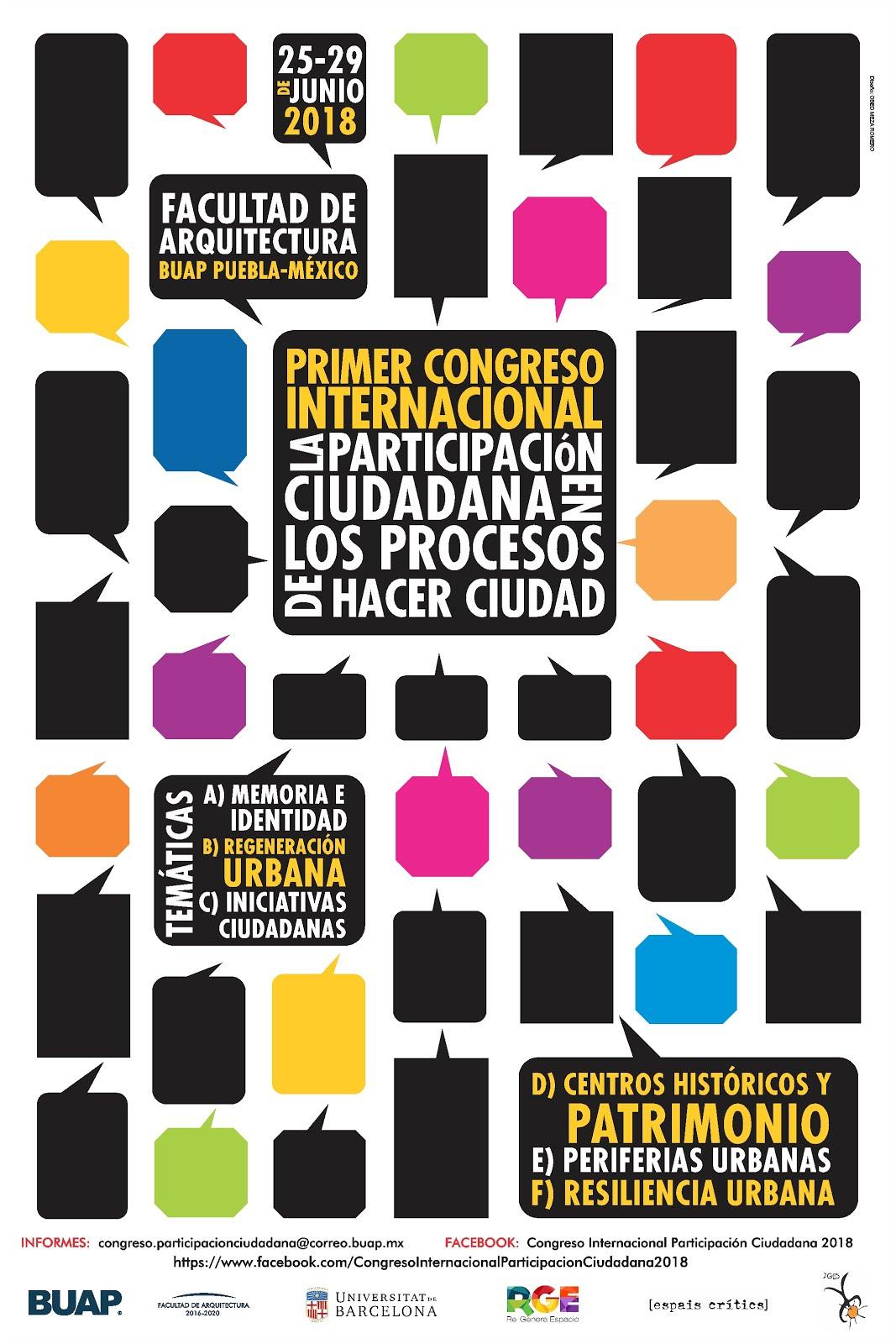 Congreso Internacional La Participación Ciudadana en los Procesos de Hacer Ciudad