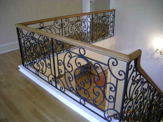 Clean The Decorative Wrought Iron Railing : Clean The Decorative Wrought Iron Railing : Interior Wrought Iron ...