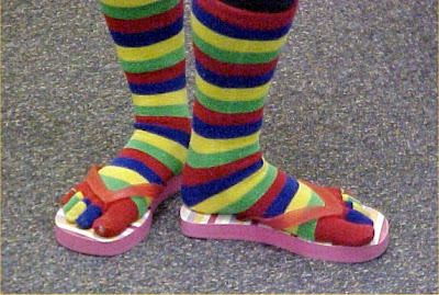Toe socks in flip flops
