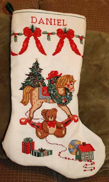 the art of finishing cross stitch christmas stocking - Cross Stitch Christmas Stockings
