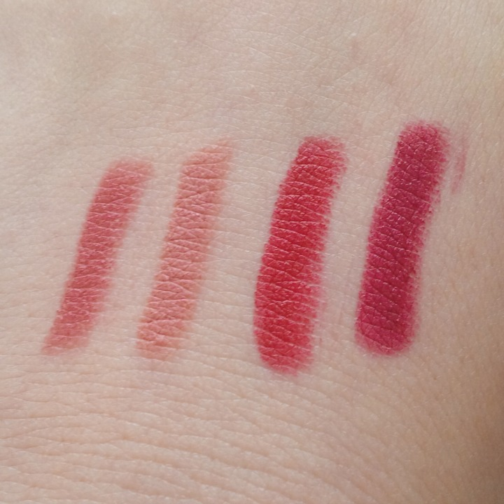 Bite Beauty Best Bite Rewind Set Café, Torte, Coulis, Aubergine swatches