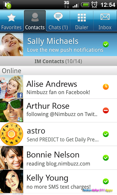 Free Download Nimbuzz For Nokia Asha 501 305 306 308 309 310 311 Full