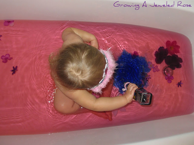Princess themed sensory bath