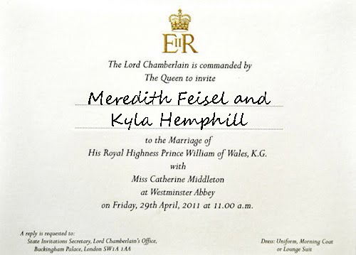 royal wedding invitation picture. ~The Royal Wedding~