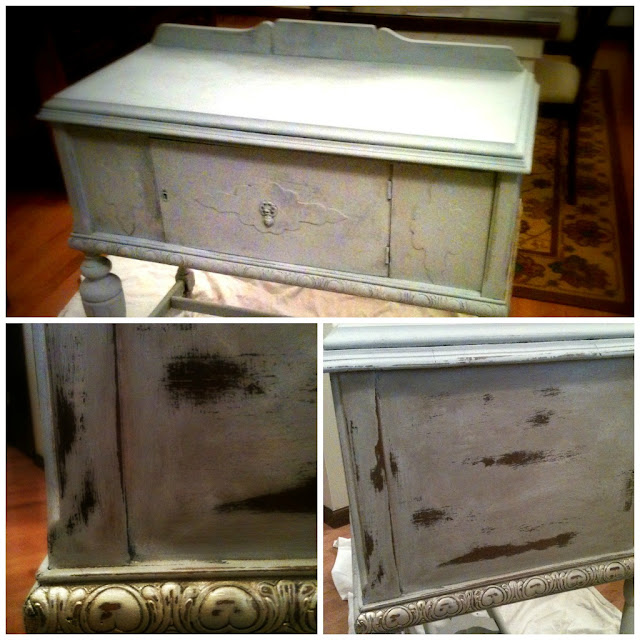 distressed side board annie sloan
