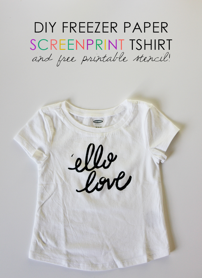 DIY freezer paper T shirt stencil free printable