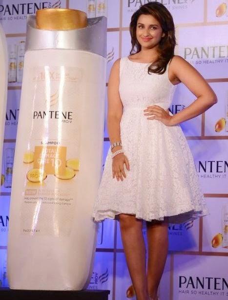 Parineeti Chopra launched and promoted the new Pantene shampoo in Mumbai