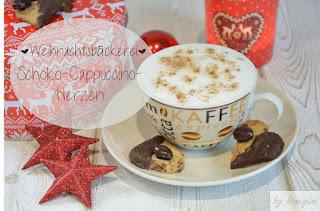 weihnachtliches Plätzchenrezept für Schoko-Cappuccino-Herzen