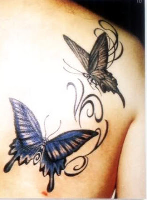 Butterfly Tattoos on the Shoulder-1