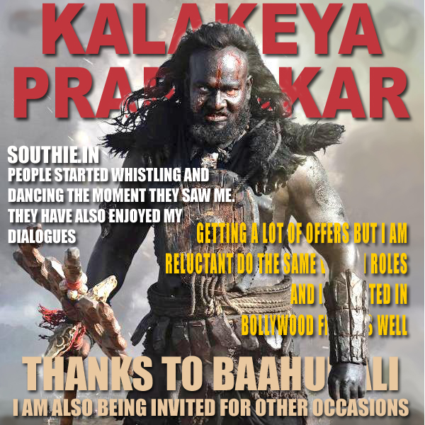 Prabhakar enjoys recognition after Kalakeya character in Baahubali, Kalakeya made him famous even though he had done movies before. Kalyakeya in Baahubali, Prabhakar as Kalakeya, Baahubali The Conclusion, News, HD posters
