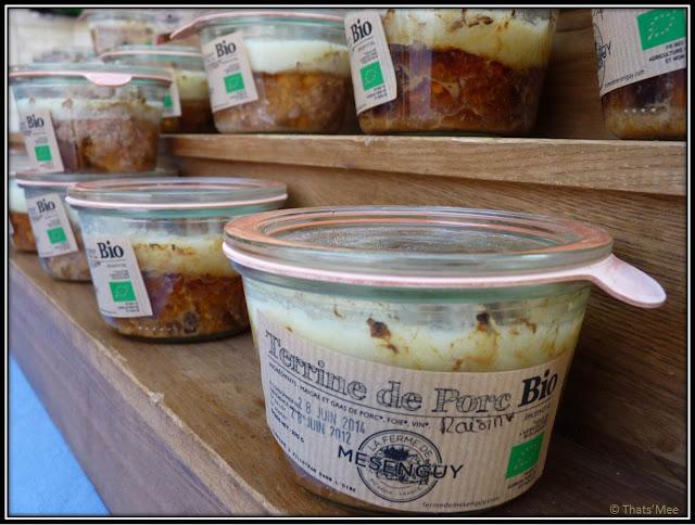 terrine ferme de Mesenguy, marché bio 104 Cent Quatre Paris 19ème