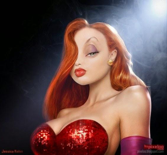 Tutorial Make-up Jessica Rabbit