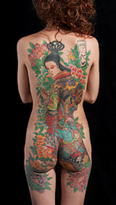 free design geisha tattoo