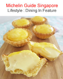 Baked Cheese Tart Recipe Feature on Michelin Guide SG