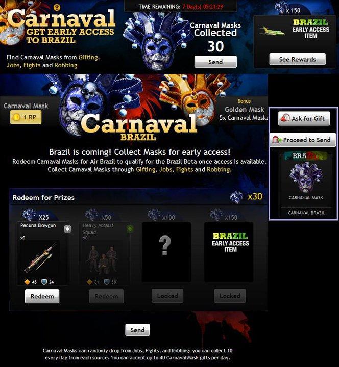 carnival brazil mask. I read the Carnival Mask