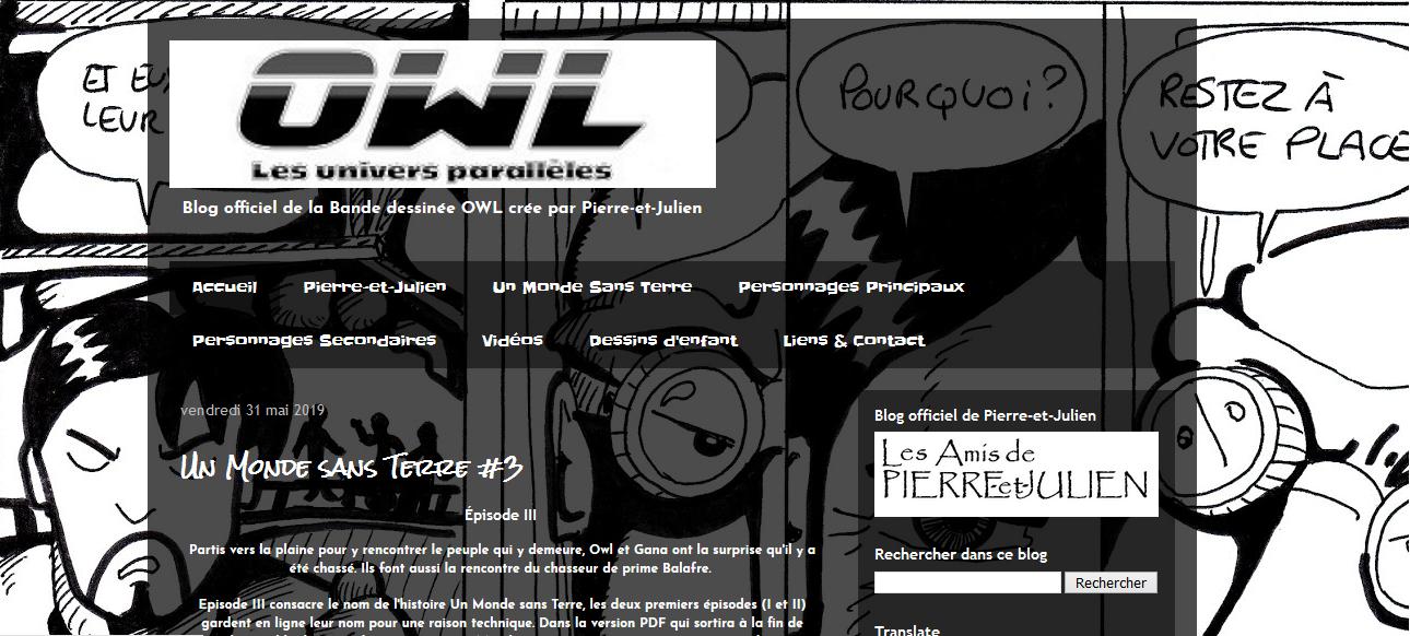 Blog officiel de OWL Les Univers Parallèles