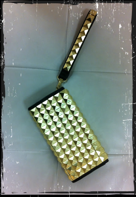 Studded clutch Gina Tricot