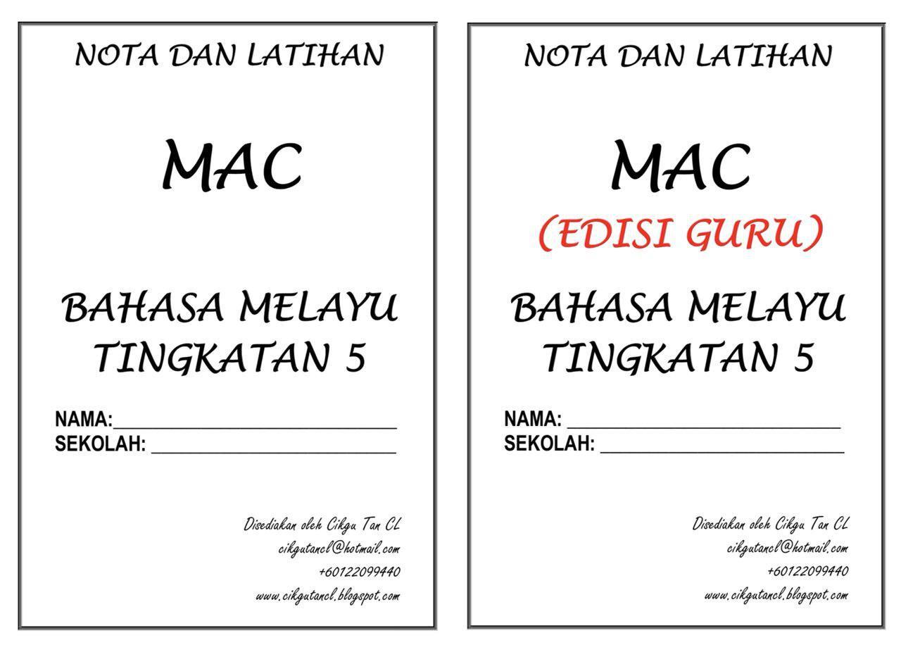 NOTA DAN TUISYEN BAHASA MELAYU KENDIRI (TINGKATAN 5) – MAC