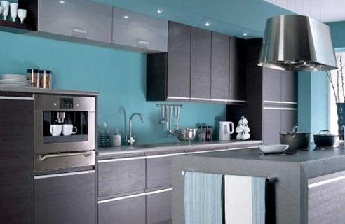 Cocina Azul Y Gris. Perfecto Azul Gris Colores Cocina Pintura Foto ...