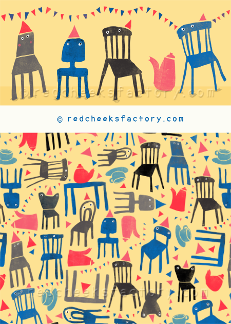 mad tea party pattern - Red Cheeks Factory