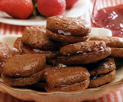 Receita de Biscoitos Casadinhos de Chocolate